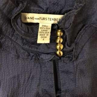 DVF Diane von Furstenberg blue silk dress 2