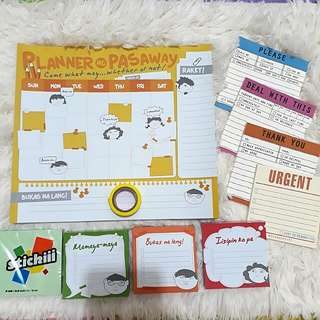 Assorted Memo Pads / Weekly Planner / Sticky Note and Tape