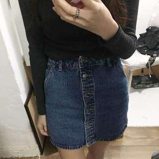 f21牛仔裙