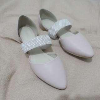 Amante Nude Flatshoes