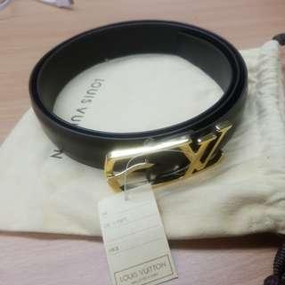 LV leather belt
