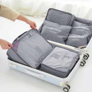 🆕 Waterproof travel storage/packing bags 6 pcs