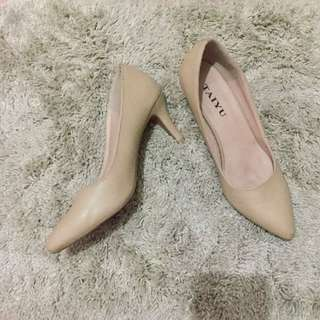 Nude shoes with heels