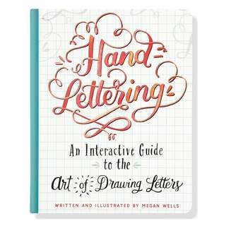 Hand Lettering (An Interactive Guide to the Art of Drawing Letters) Hand lettering Brush lettering book Calligraphy book Beginners book