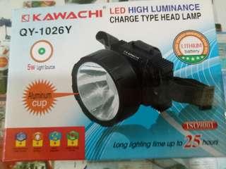 Senter kepala charge 5W Super Led Kawachi