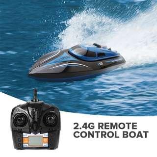 H100 Racing RC Boat - 30km/h, 150M Range, Self-Righting, 4Ch 2.4GHz Wireless Control, 600mAh Battery (Blue) (CVAIA-G862)