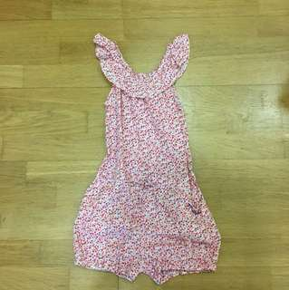 Girls Floral Romper 5 yo