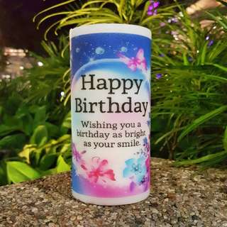 Customised birthday candles