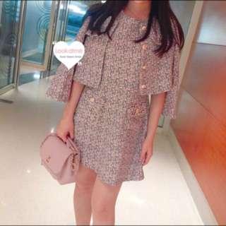 韓國製 斯文貴氣 look chanel style 套裝裙