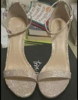 New gold strap heels size 8.5