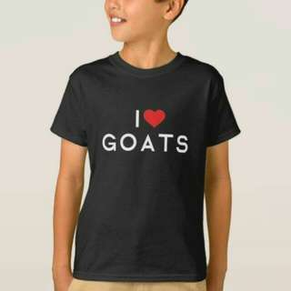 I Love Goats Design T-Shirt Custom Tee