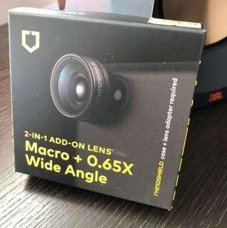 Rhinoshield 犀牛盾 手機鏡頭 2in1 Add-on lens macro+0.65x wide angle