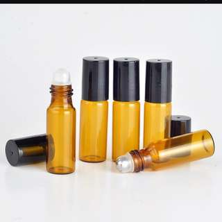 Amber roller bottle 3ml and 5ml