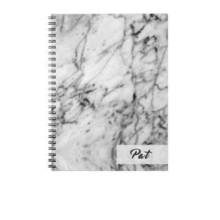 Personalized Notebooks - Gray Marble