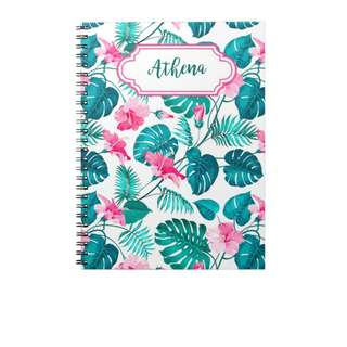 Personalized Notebooks - Tropical Gumamela