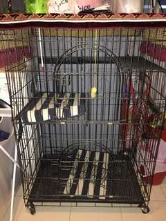 Cat Cage 3-tier (does not include toy and mat in picture)