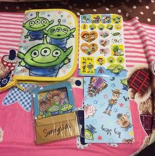 Toy Story 玩具總動員套裝 有拉鏈袋 貼紙 便利貼紙套裝 簿仔