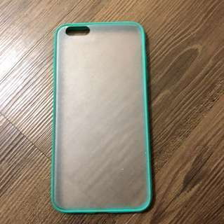 (包郵) 湖水綠 磨紗 iphone6plus case