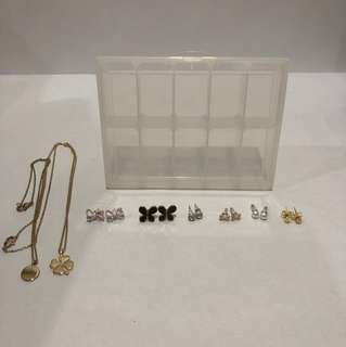 Earnings and Necklaces