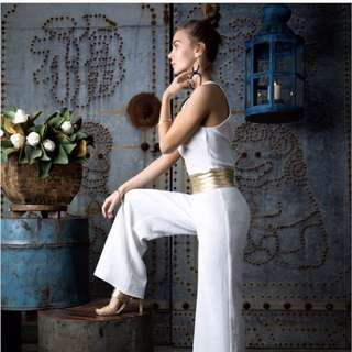 White gold jumpsuit