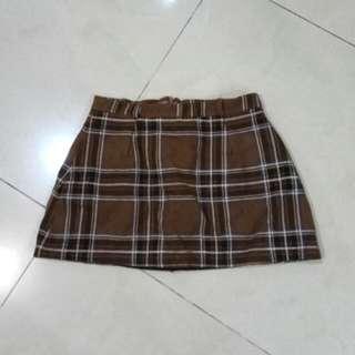 Knit Checkered Skort