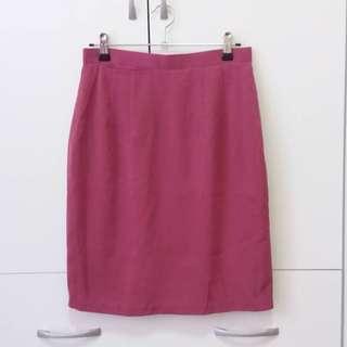 紫紅色及膝裙 A字裙 雪紡裙
