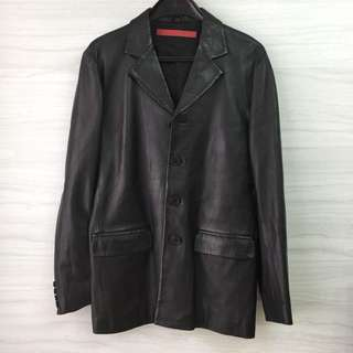 TOUGH JEANS genuine leather Jacket