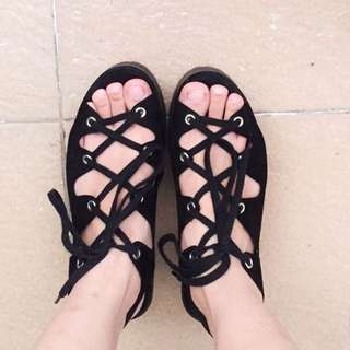 Pull And Bear Black Shoes
