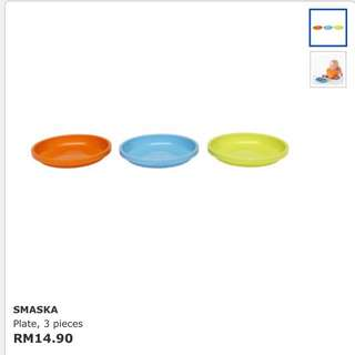PLATE FOR BABIES 3 PCS