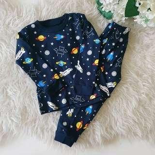 Space pajamas for kids/piyama anak