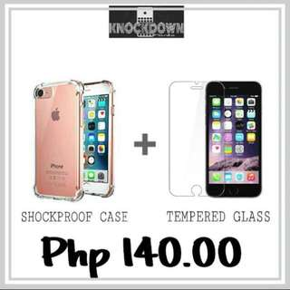 SHOCKPROOF+TEMPERED GLASS