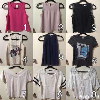 3 pcs for 50K only! CAN MIX 😋❤️ tank top, t-shirt, atasan, blouse