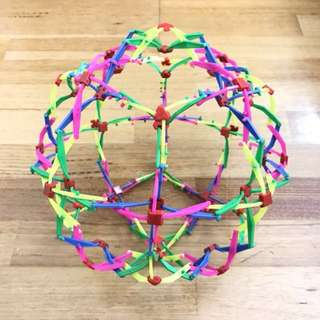 Rainbow Roll Up Spider Ball