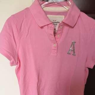 🚚 A&F 女版Polo衫(粉色)