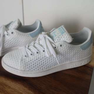 RARE: Adidas Originals Stan Smith White/Blue knit sneakers