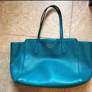 gucci aqua swing shoulder bag 袋