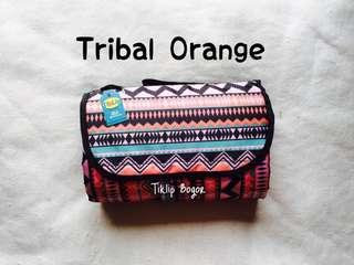 Tikar Lipat Tiklip Bogor Tribal Orange