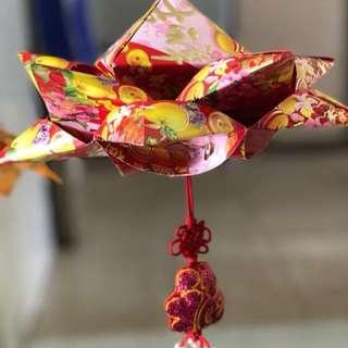 Handmade Hongbao Lotus-design Lanterns for CNY