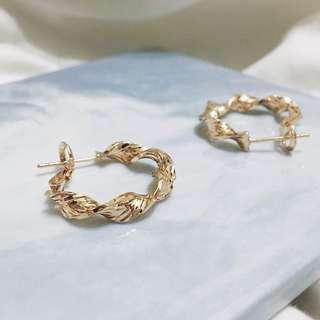歐美  小金屬螺旋耳環 ( G01 )