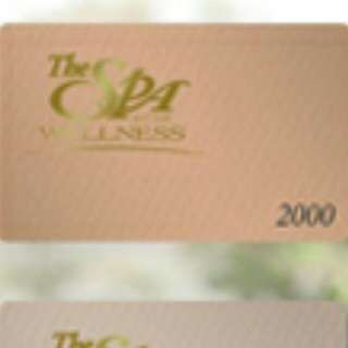 Php 2,000 The Spa Gift Certificate