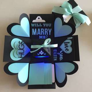 Proposal explosion Box With Lighthouse, 4 waterfall in black & tofganyv