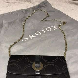 Authentic Oroton Clutch Wallet With Removable Chain