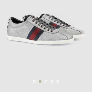 Gucci glitter web sneakers men's 11
