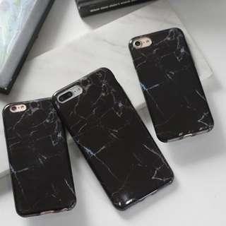 CASE IPHONE MARBLE BLACK 6/6S