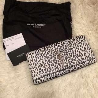 YSL leopard clutch