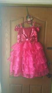 Pink glittery party dress