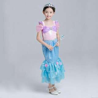 *FREE DELIVERY to WM only / Ready stock*   Kids Ariel mermaid costume only as shown design/color.    Free delivery is applied for this item.