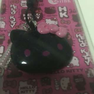 Hello Kitty Black Ezlink charm