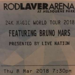 x1 GA Bruno Mars Concert