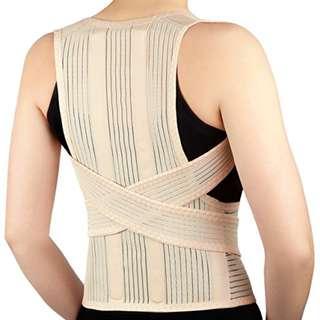 Deluxe Posture Corrector Posture Brace Unisex Full Back Support Belt Shoulder Upper Back Lower Back Posture Support - S